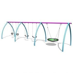 Park Supplies & Playgrounds Curved Leg Swings 3D Design