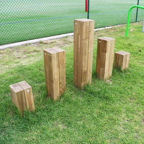 Park Supplies & Playgrounds Fitness Trail Stepping Logs