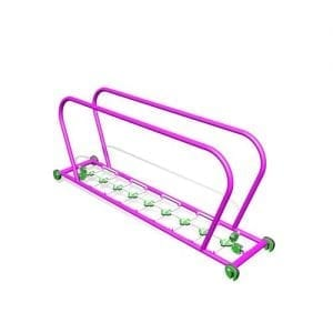 Park Supplies & Playgrounds PlayBlox Rope Ladder with Handrails 3D
