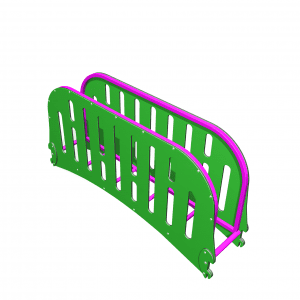 Park Supplies & Playgrounds PlayBlox Enclosed Steel Ladder 3D