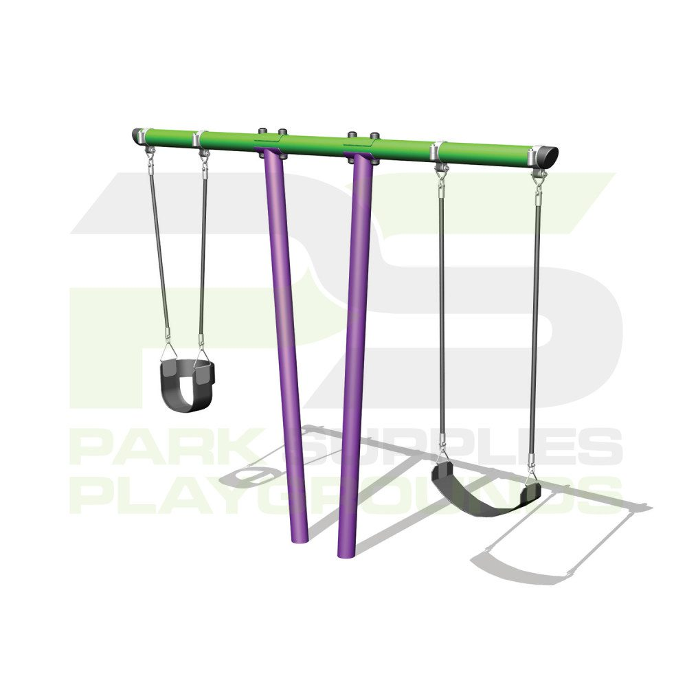 Park Supplies & Playgrounds 2 Bay T Bar Swing