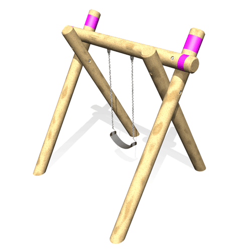 Park Supplies & Playgrounds Timber A Frame Single Swing Option 3D Design