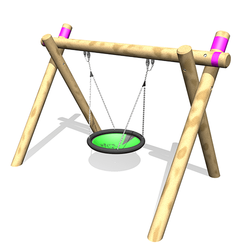 Park Supplies & Playgrounds Timber A Frame Single Lillypad Swing Option 3D Design