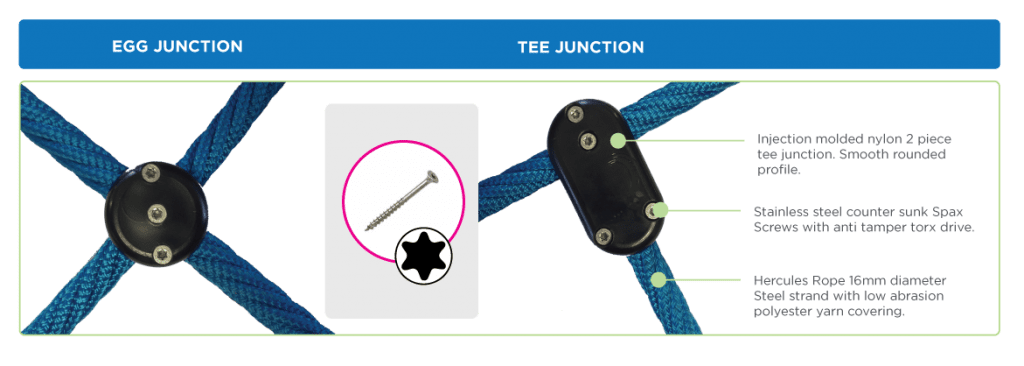 Park Supplies & Playgrounds Hercules Rope Junction Options